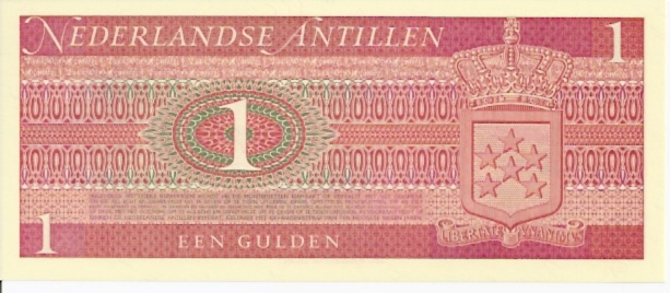 Bank Van de Nederlandse Antillen  1 Gulden  1970 Issue Dimensions: 200 X 100, Type: JPEG